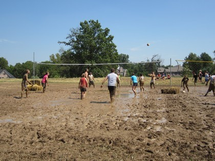 Teams Playing in the Mud