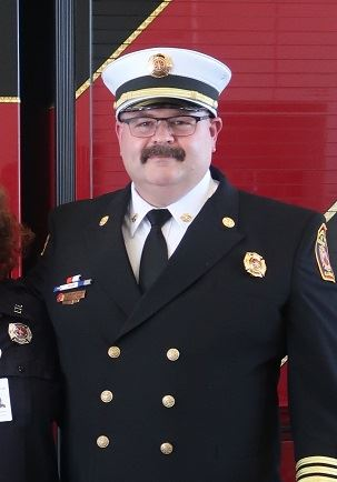 Fire Chief James Whiteford Oath of Office Ceremony Class A Uniform with Hat